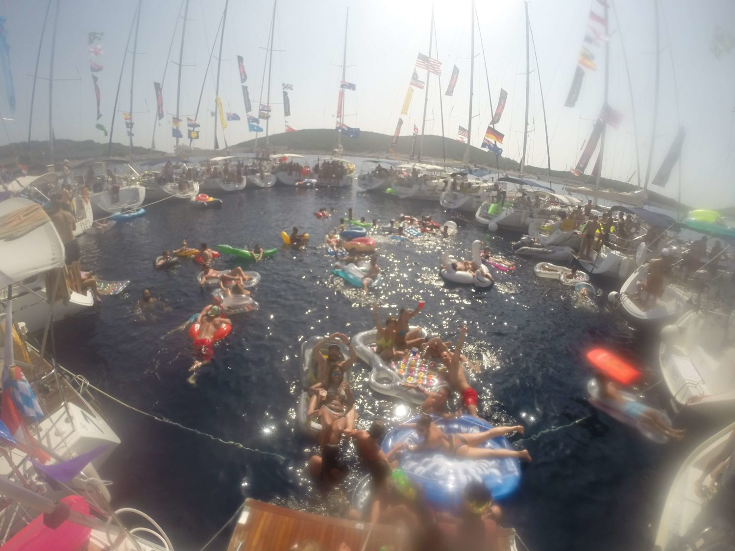 Yacht Week Croatia circle raft