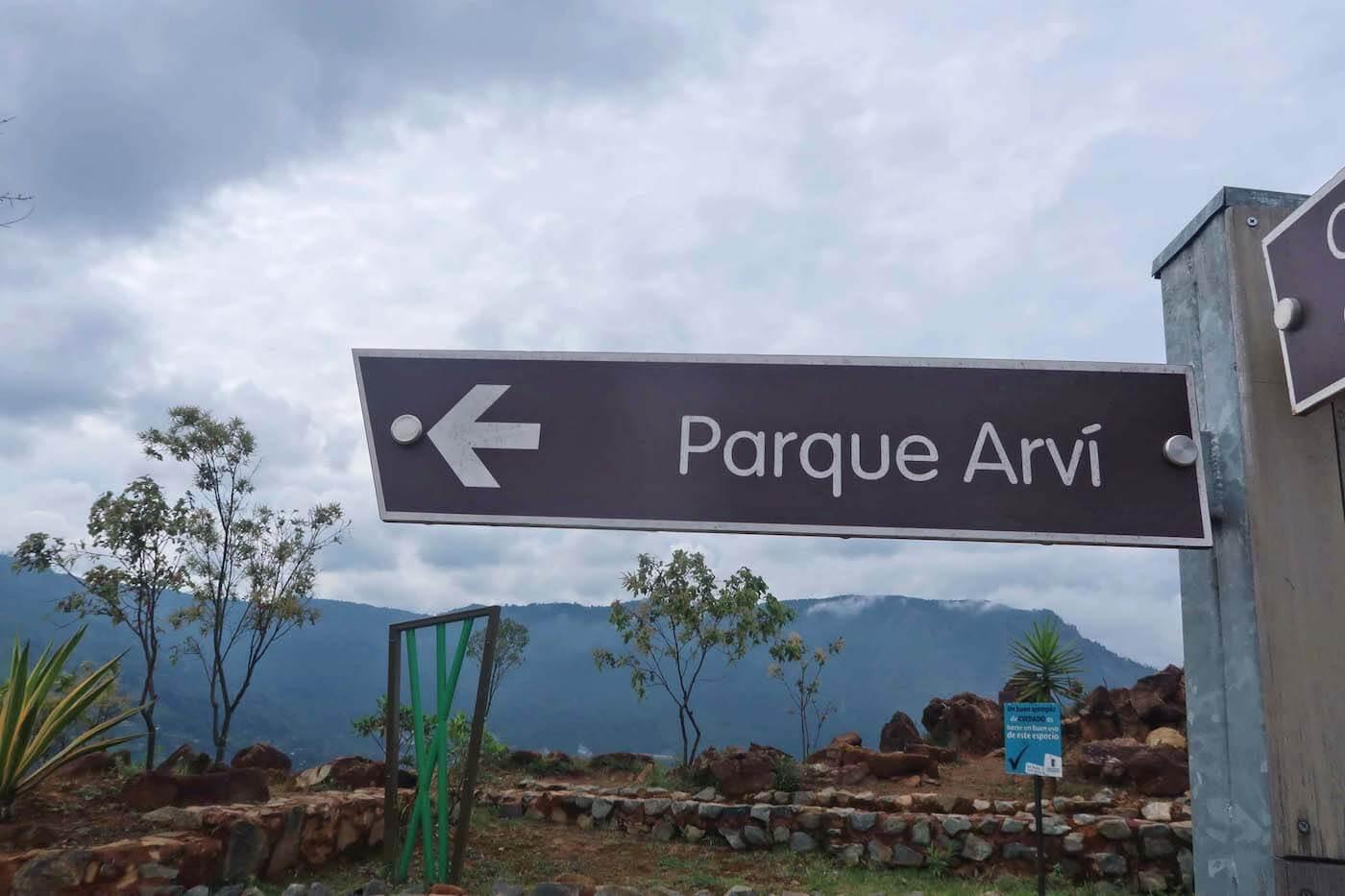 Sign for Parque Arvi