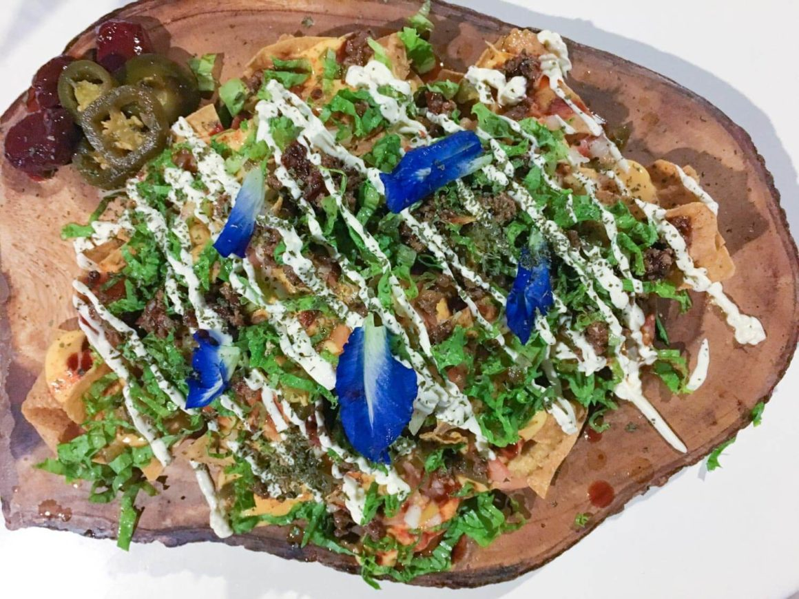 Aerial view of the nachos at Get Real restaurant in Coron Town