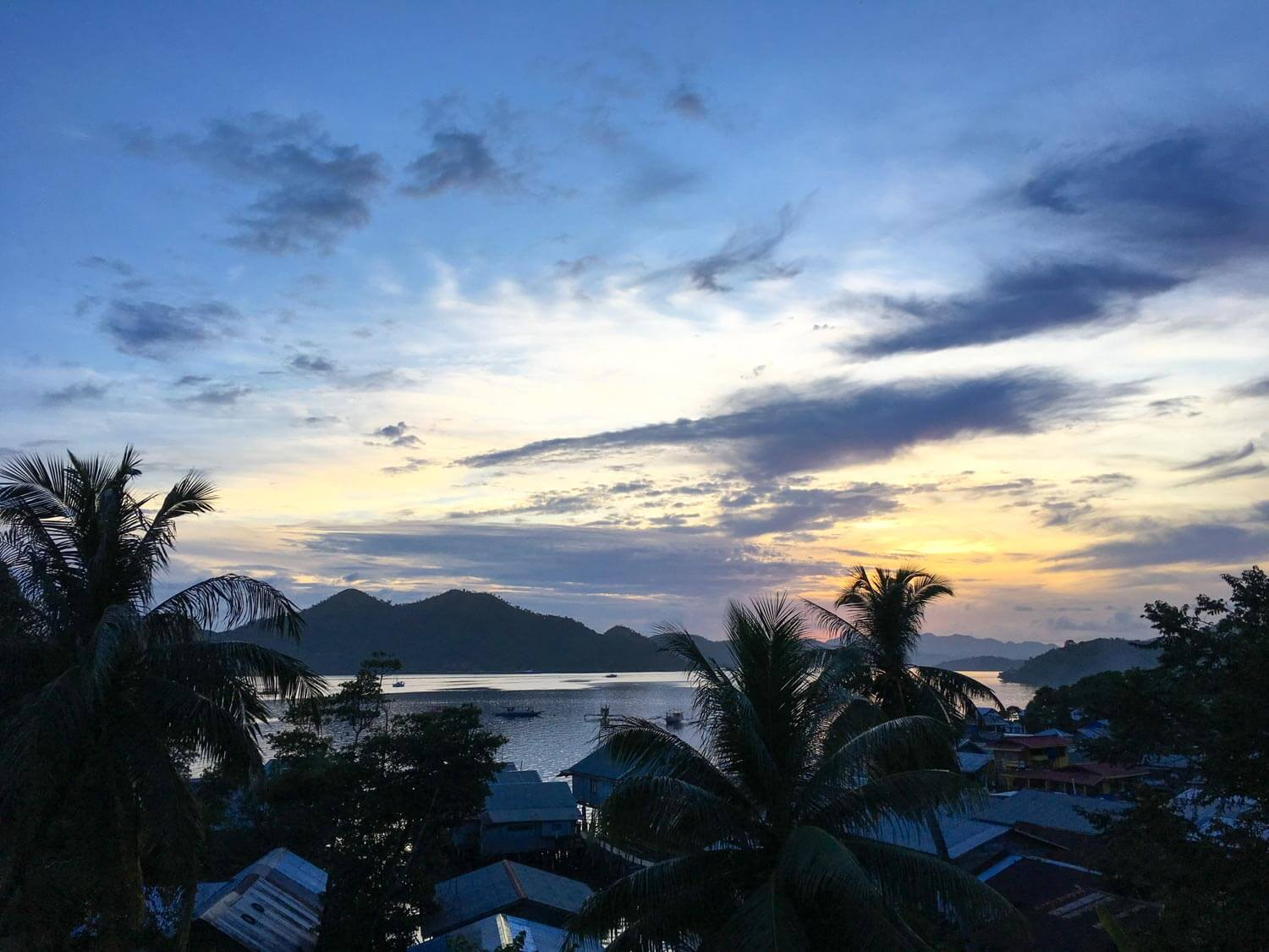 View from Levine's in Coron Town, Palawan