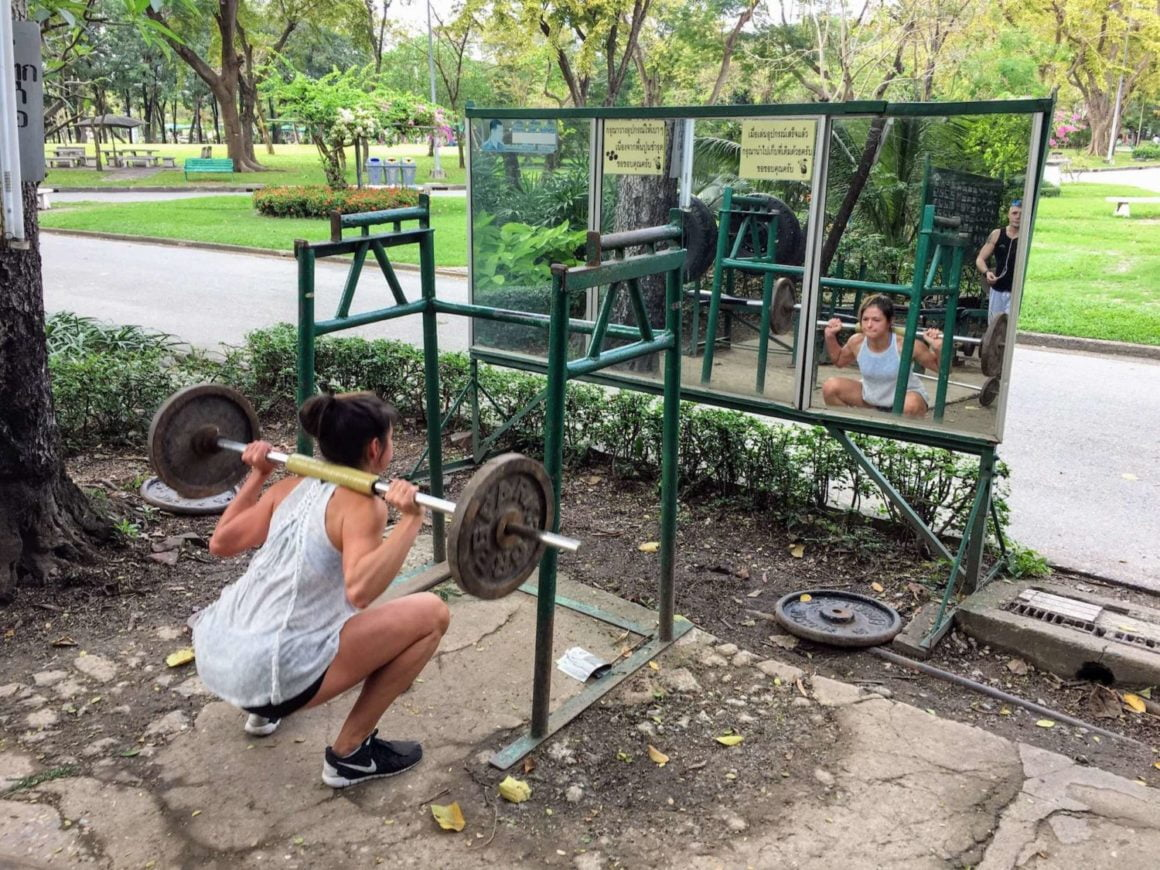 lumpini park gym kim squat