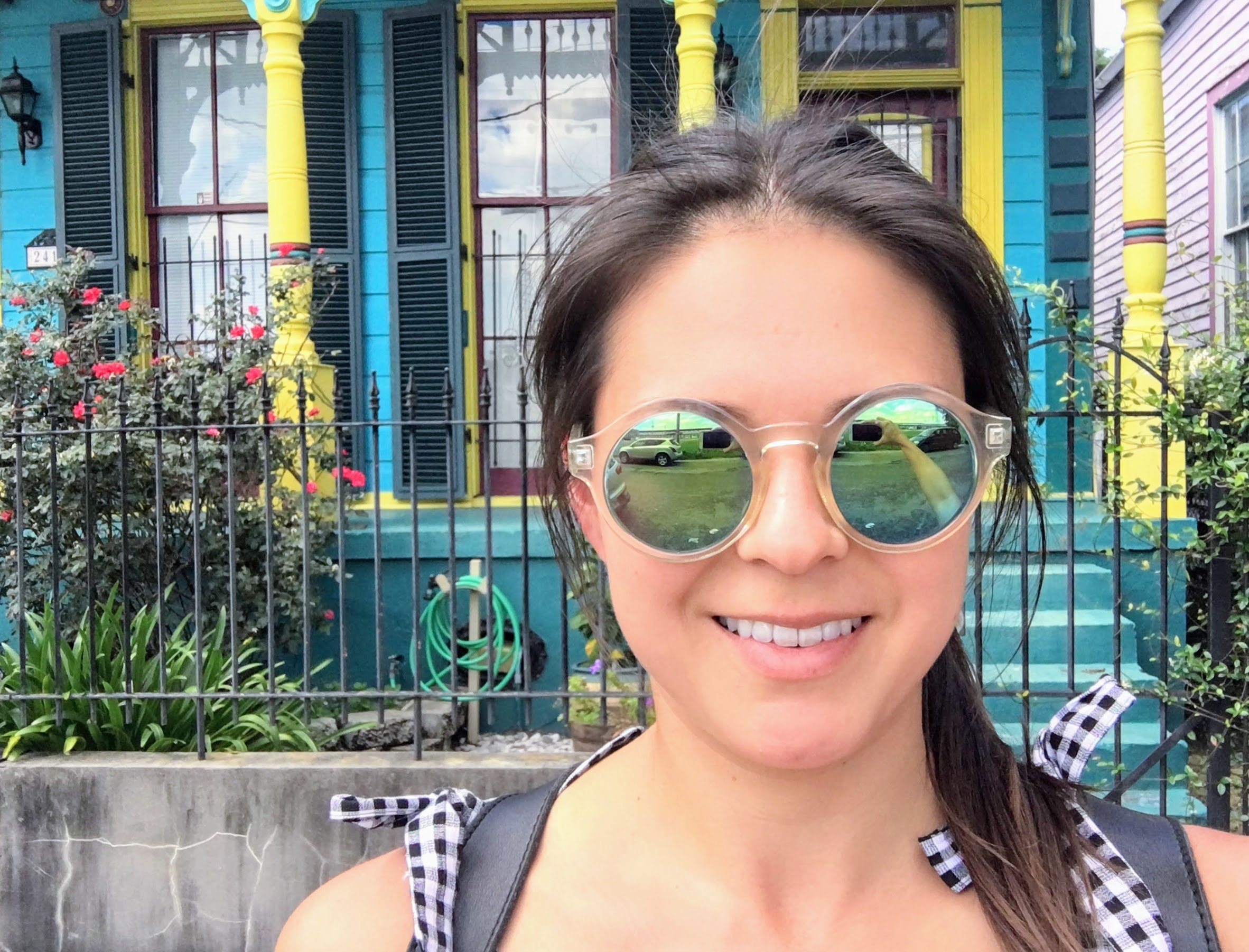 French Quarter selfies happen when traveling solo in New Orleans.