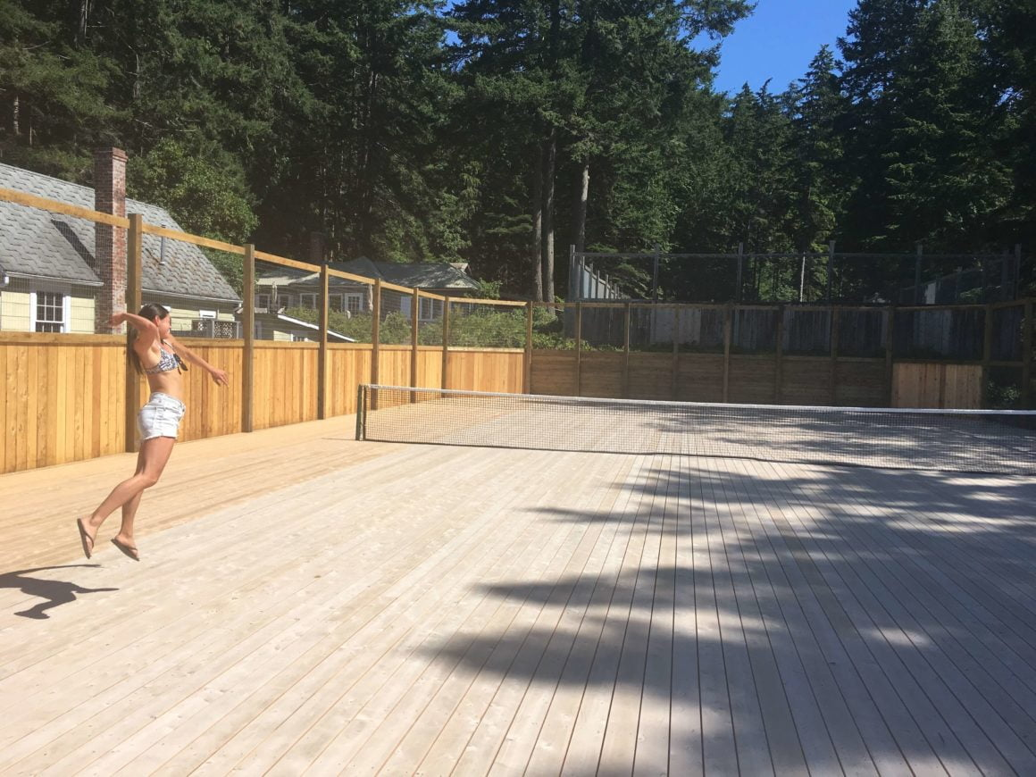 Outdoor Tennis Courts Savary Island