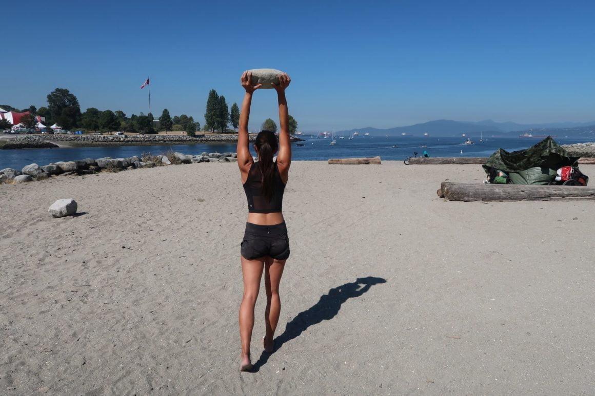 moving pedestal stone training exercise