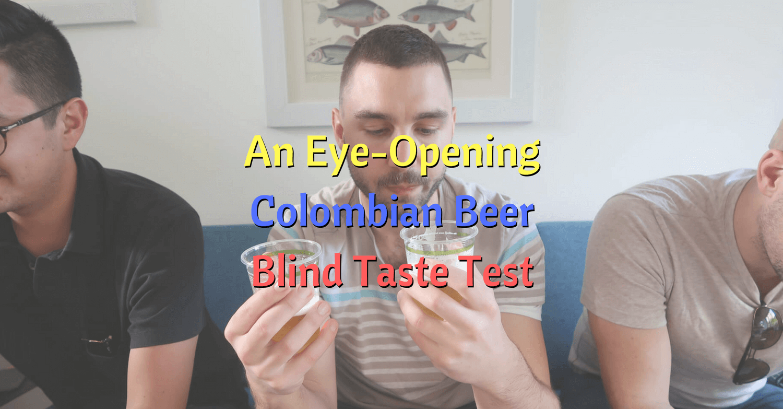 Feature image Colombian beer blind taste test