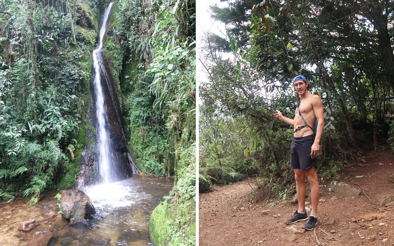 Cascadas del Higueron and a lost-looking Chris