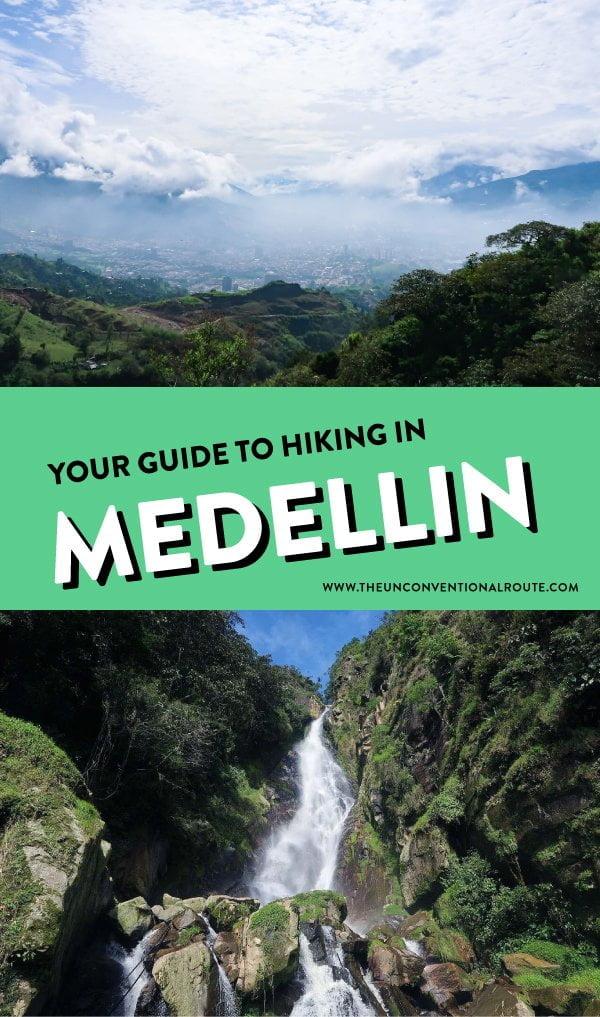Hiking in Medellin Pinterest pin