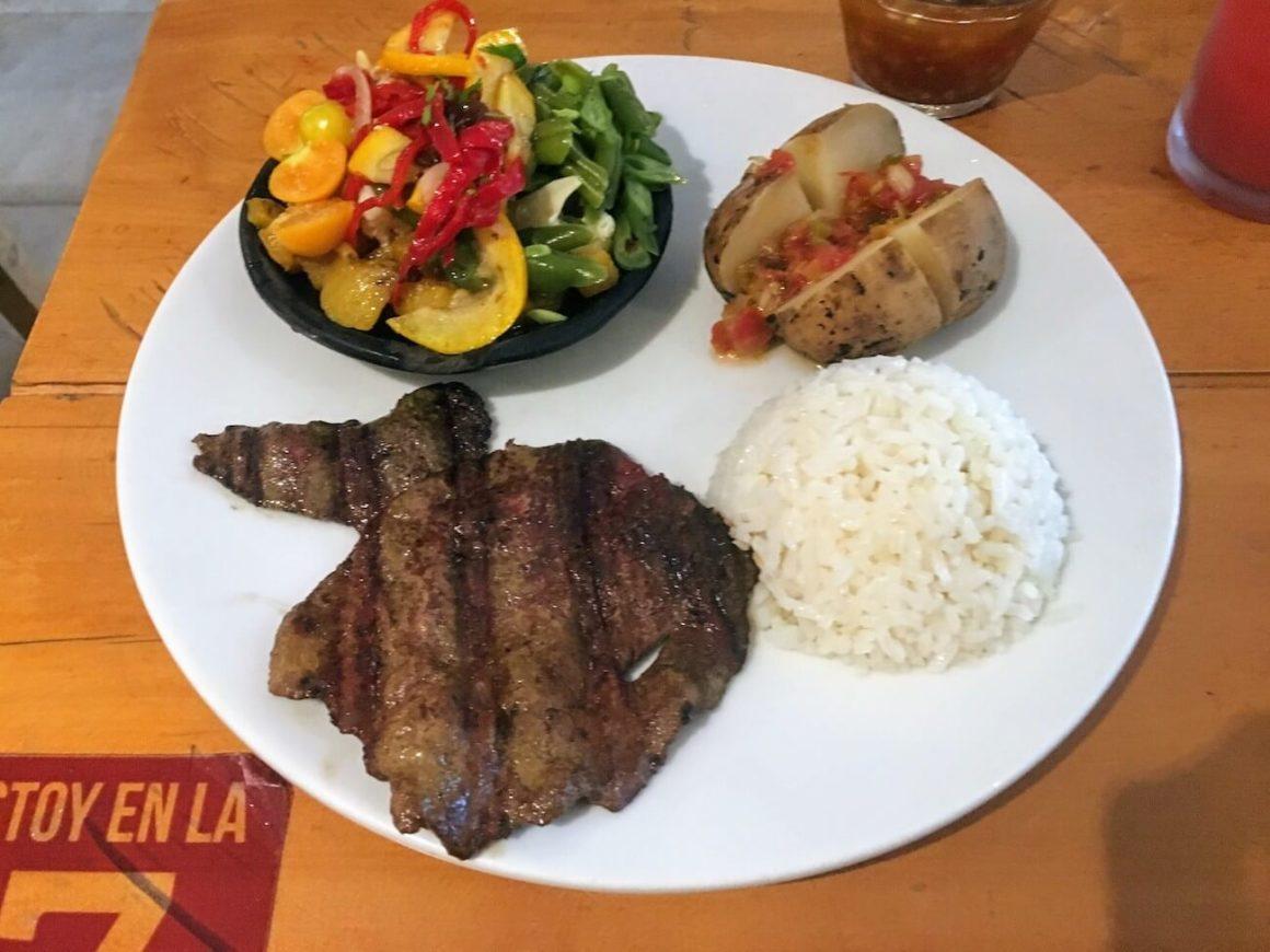 El Pilon Guarceño main lunch special dish