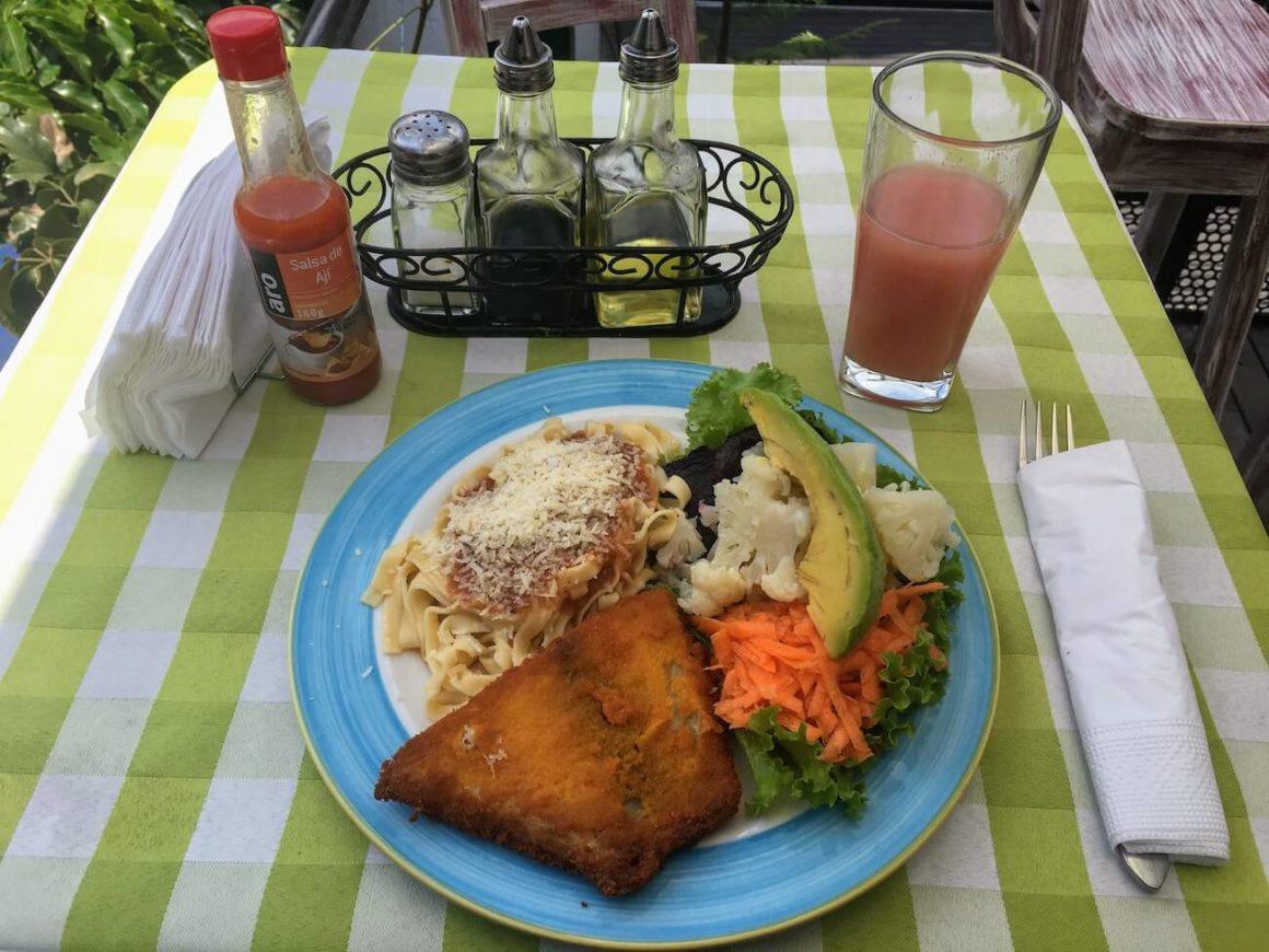 Fiorella menu del dia main lunch plate