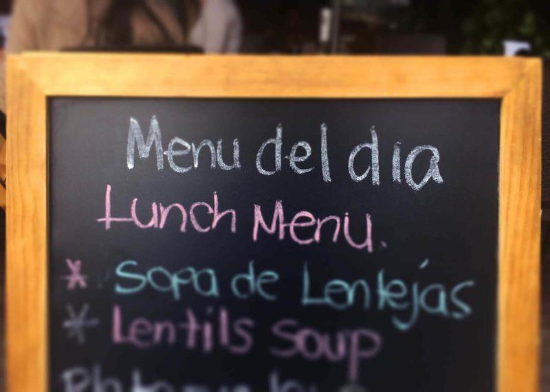 Best menu del dia lunch in Medellin, Colombia