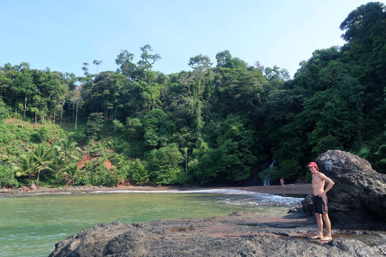 playa el tigre bay and cascada el tigre waterfalls in bahia solano
