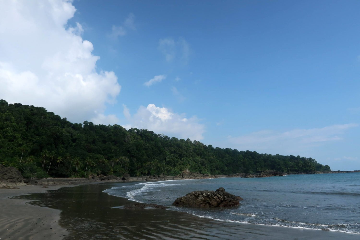 panoramic view of Playa Larga on Colombia's Pacific Coast