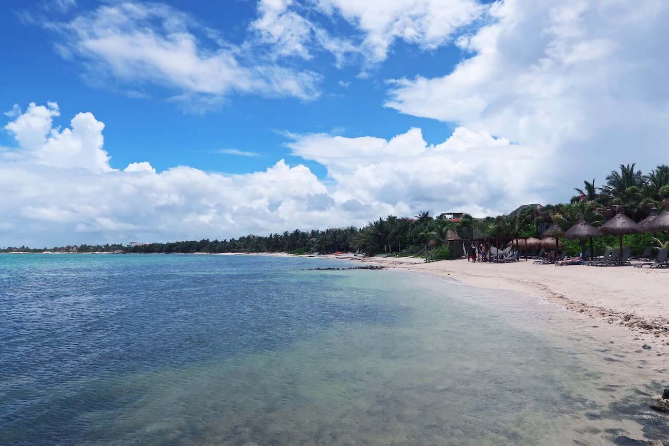 View of Bahia Soliman, a beach outside Tulum