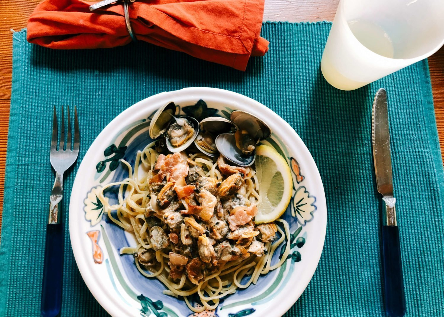clam linguine fresh savary island clams