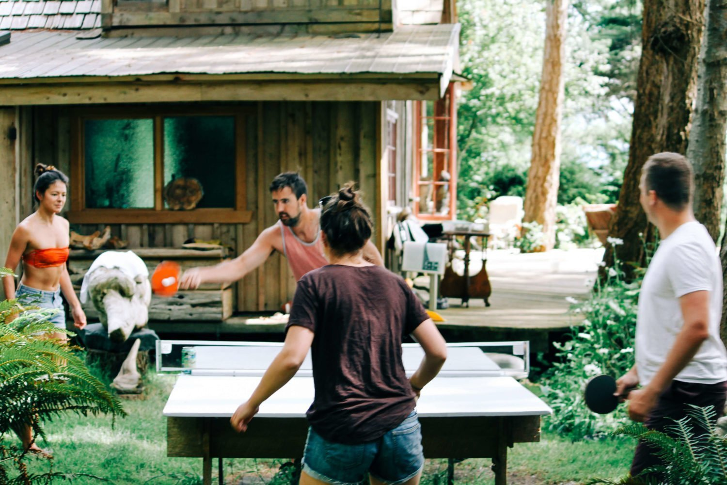 outdoor ping pong game on savary island
