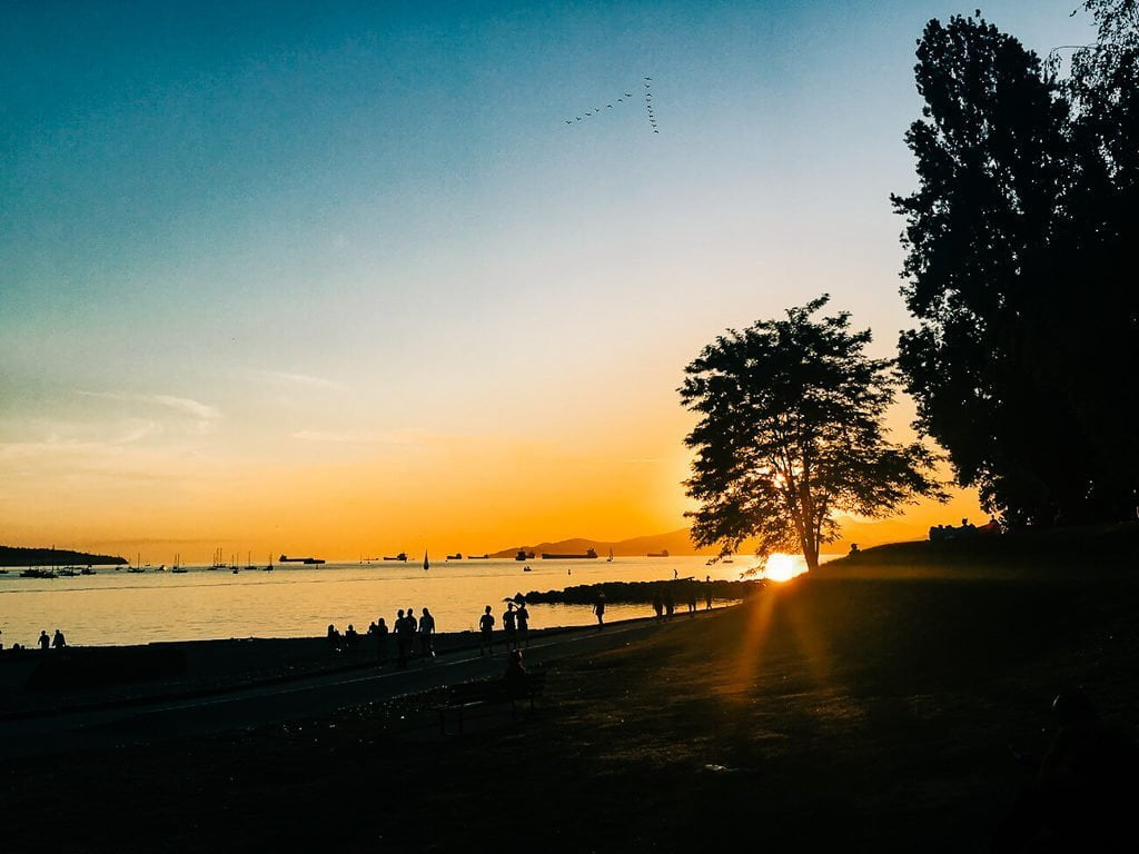 Sunset at Vancouver's Sunset Beach