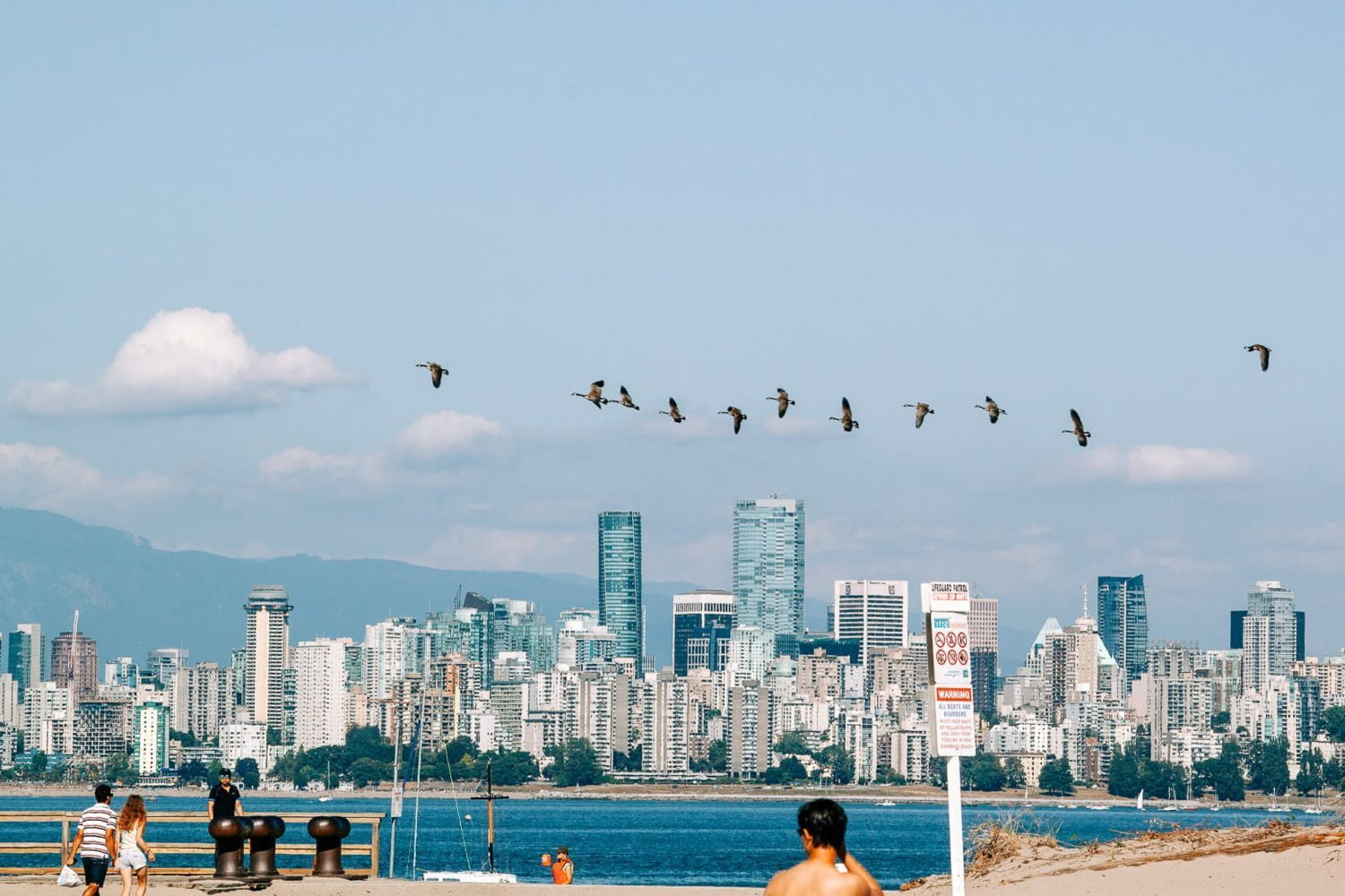 Vancouver skyline views from Jericho Beach