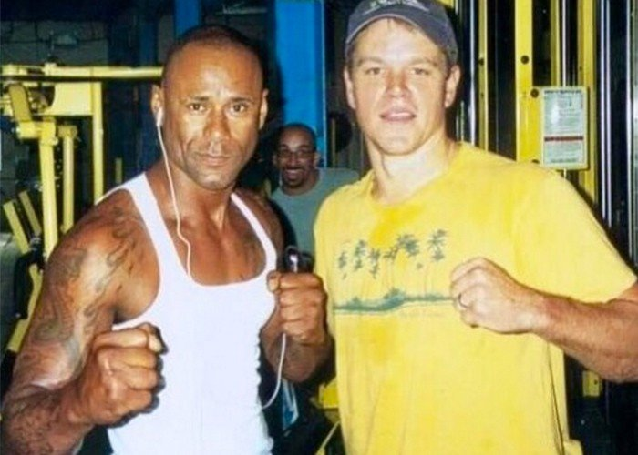 Osmin with Matt Damon a long time ago