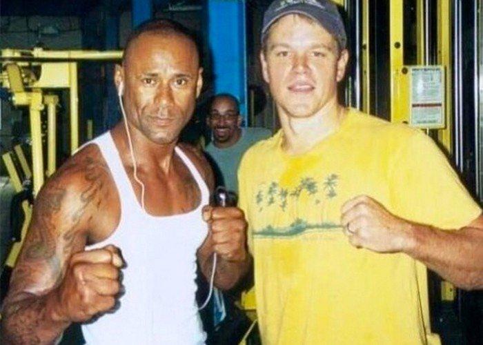 Osmin with Matt Damon a long time ago