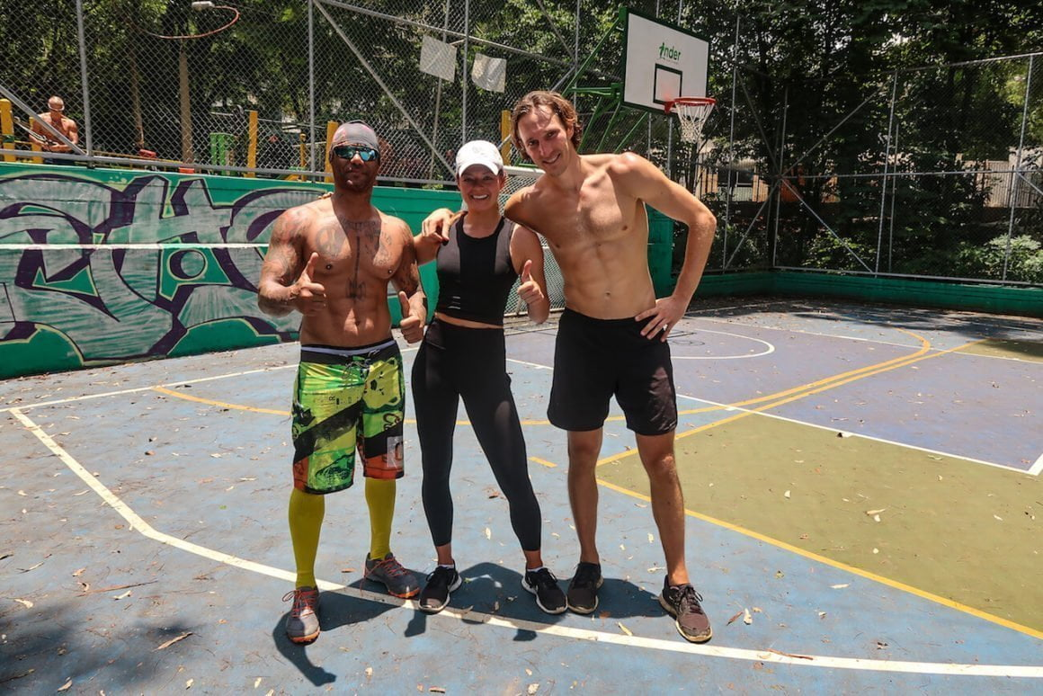 Osmin, Chris, and Kim after a workout