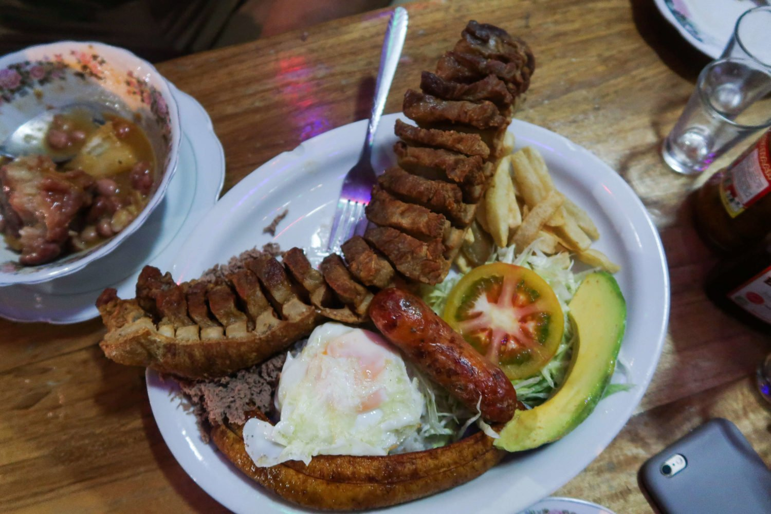 chicharron plate from gloria de la gloria