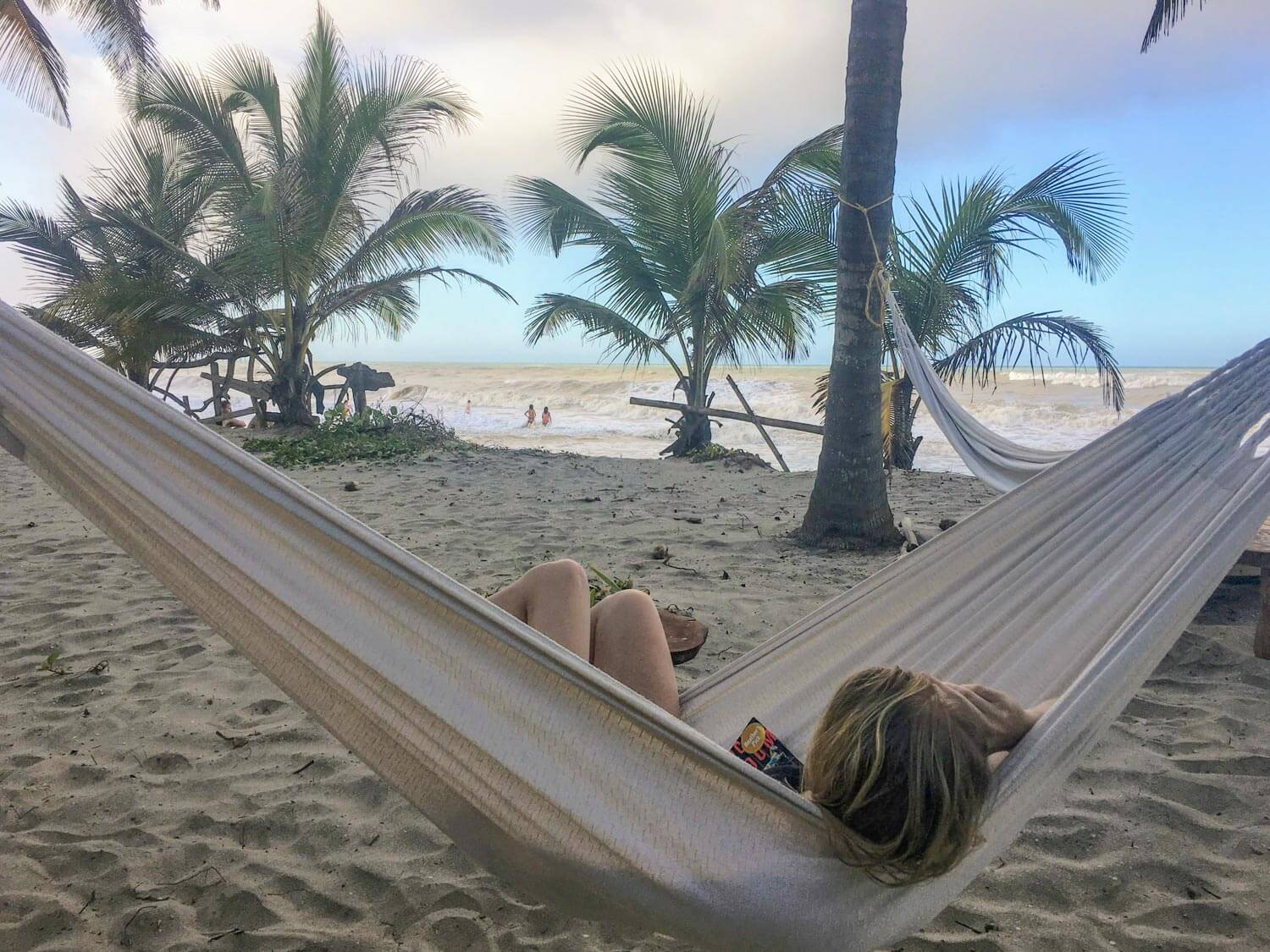 Relaxing on a hammock on a beach
