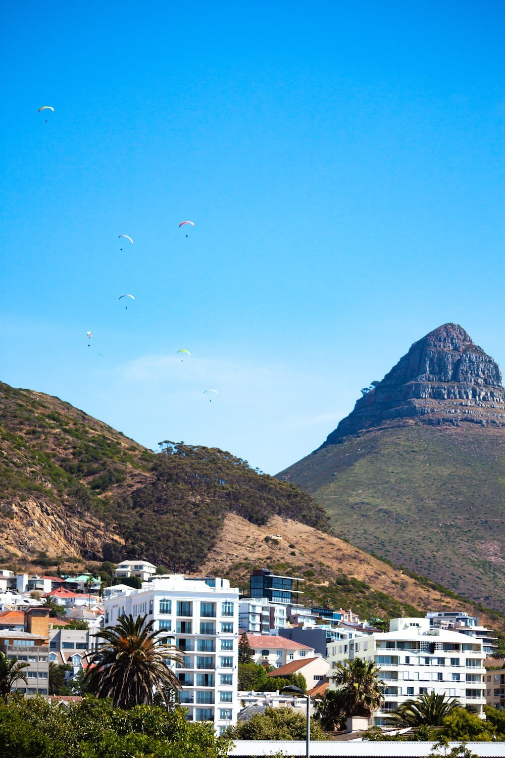 Paragliders in Cape Town