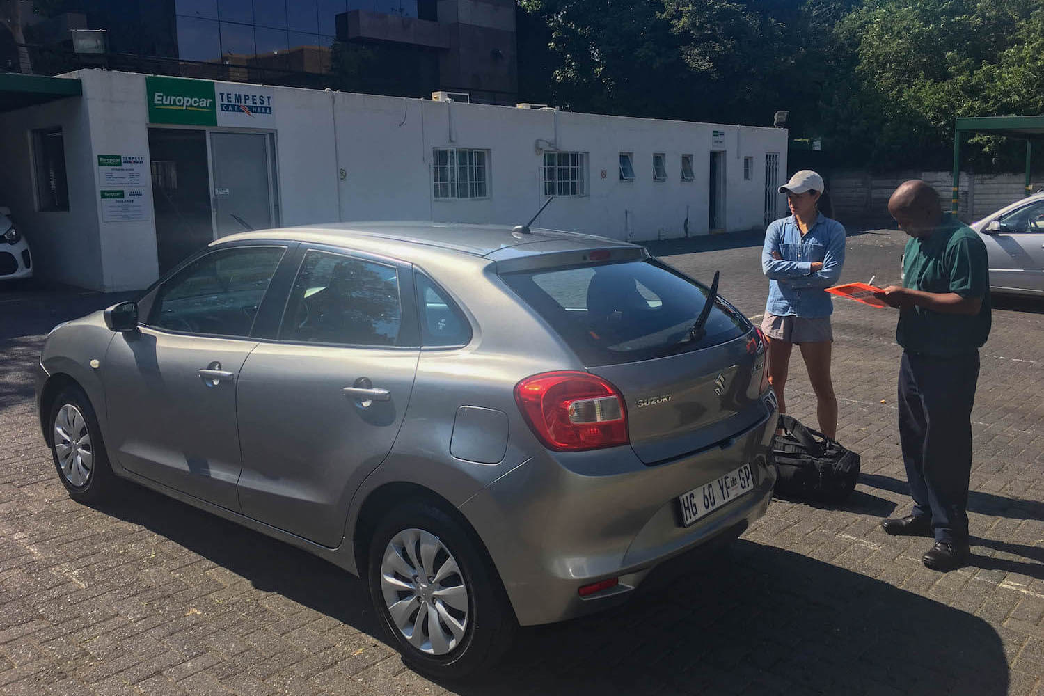 Rental car inspection in South Africa