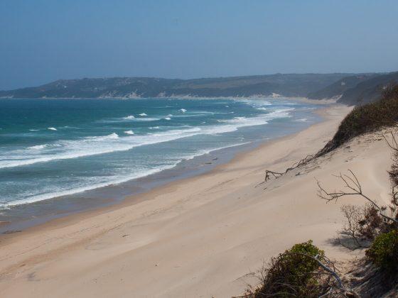 Cintsa beach from top of dune