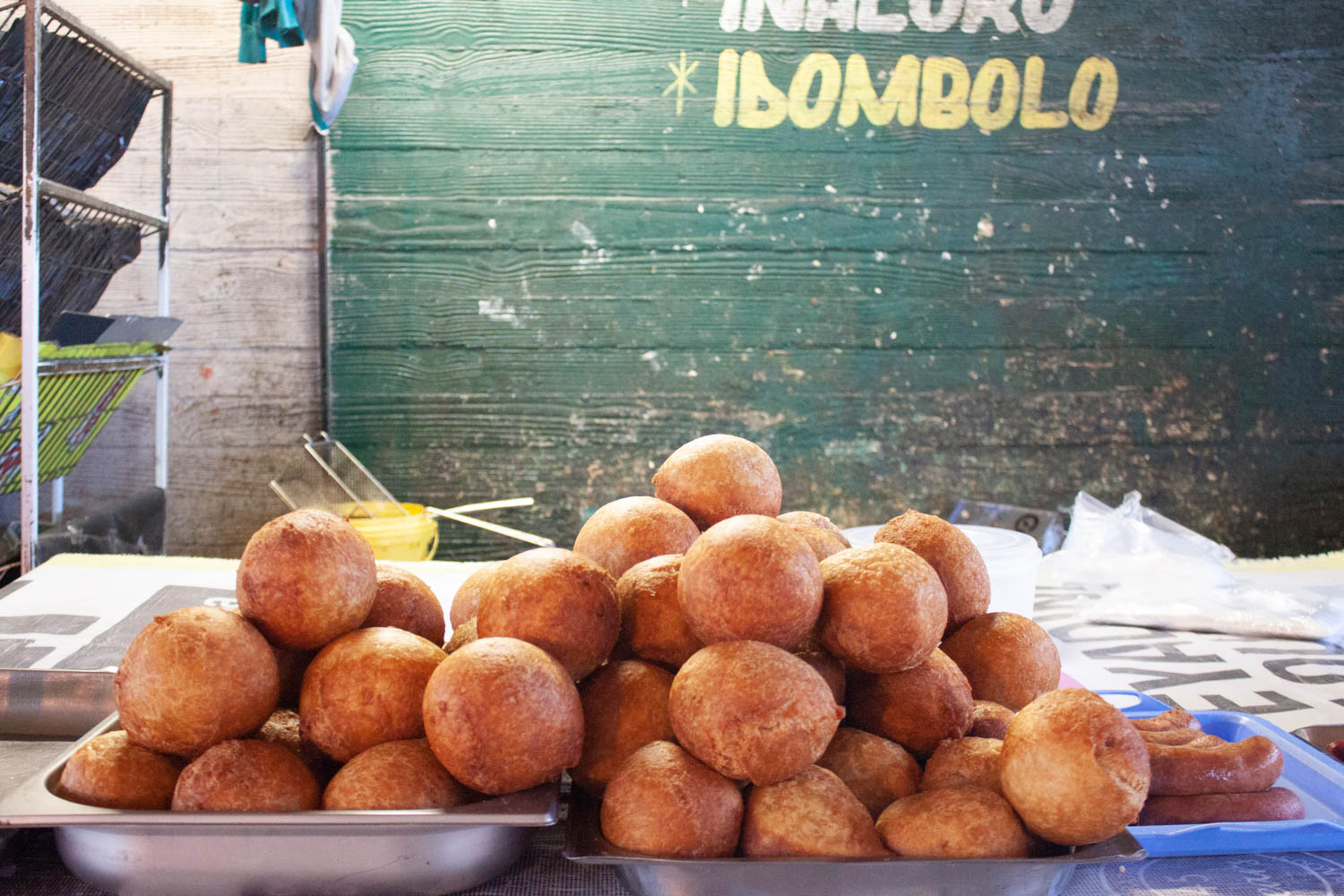 Fried dough balls at Warwick Market