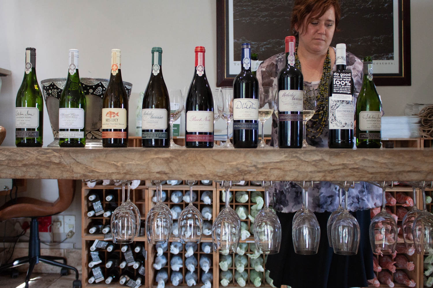 Wines to taste at Springfield Wine Estate