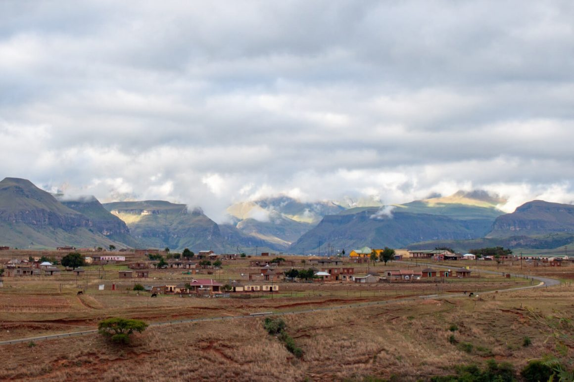 Village near the Drakensberg