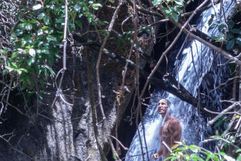 Chris in Rainbow Gorge waterfall