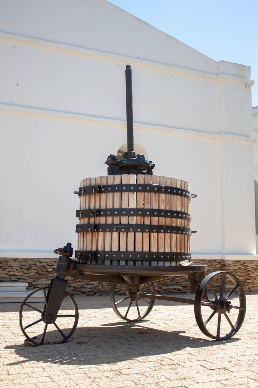 Wine tricycle and Van Loveren Estate