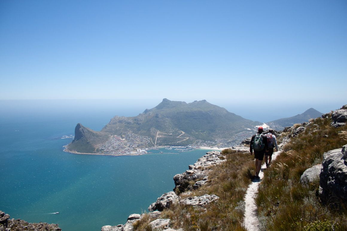 Hiking Noordhoek overlooking Hout Bay