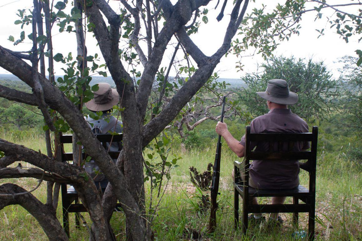 Kruger safari tips cover image of Kim's parents sitting outside