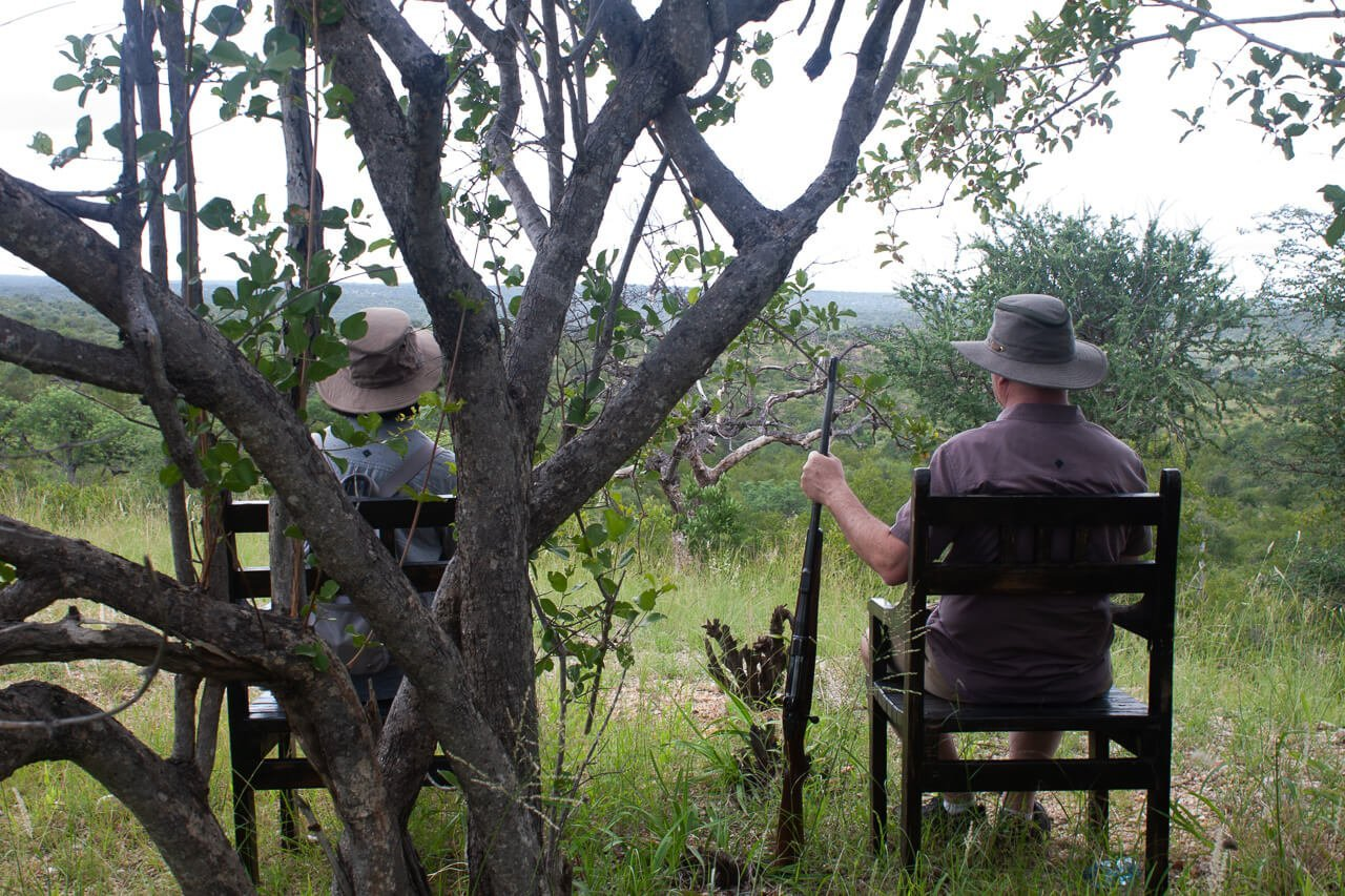 Kruger safari tips cover image of Kim's parents sitting outside