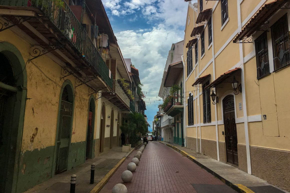 Street in Panama City's old town, Casco Viejo