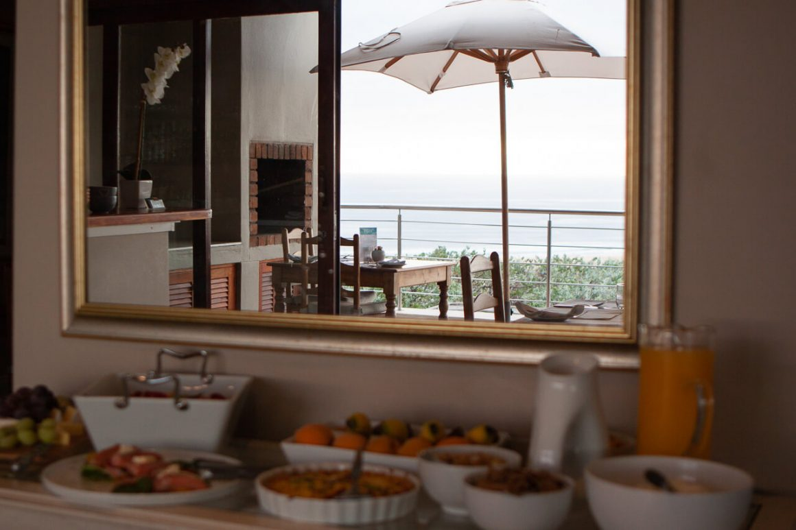 The breakfast spread at La Vista Lodge in Plettenberg Bay.