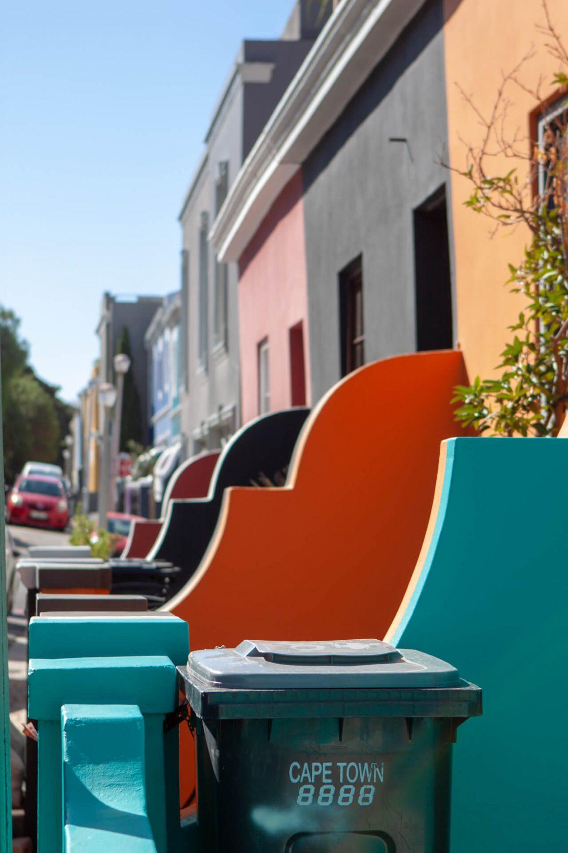 Colorful facades in De Waterkant.