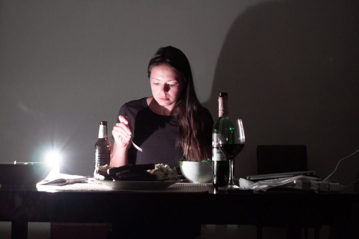 Eating in the dark in Cape Town because of load shedding