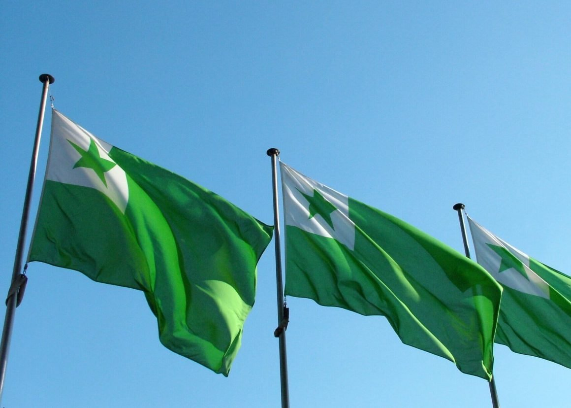Flags of the Esperanto language, one of the unconventional ideas we've suggested in our Unconventional Monthly.