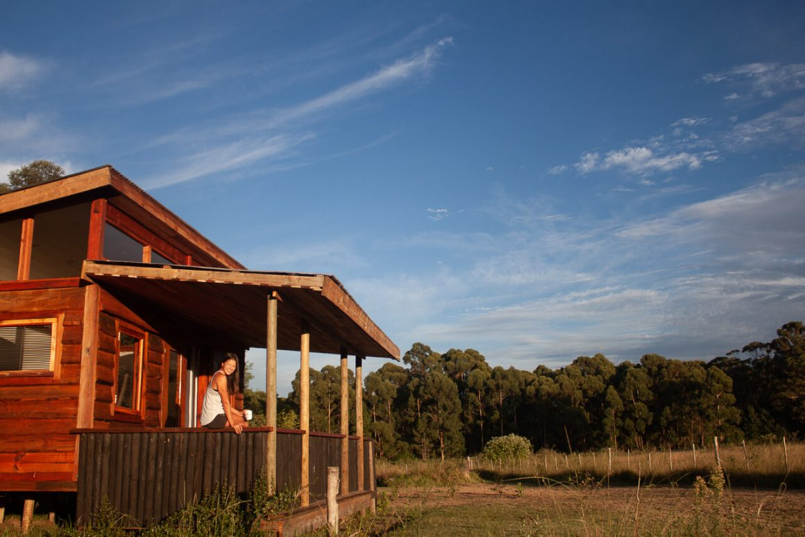 Log cabin at Love Earth Farm in Tsitsikamma, Storms River.