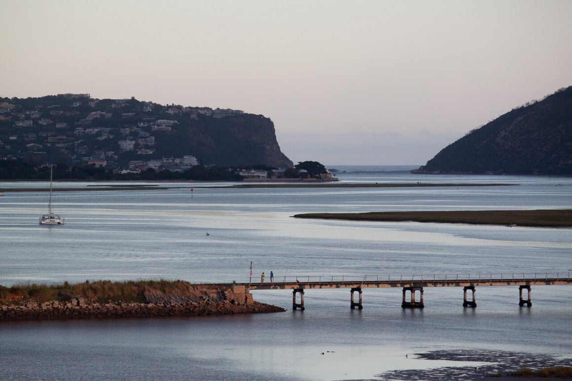The view from Hide Away in guesthouse in Knysna.
