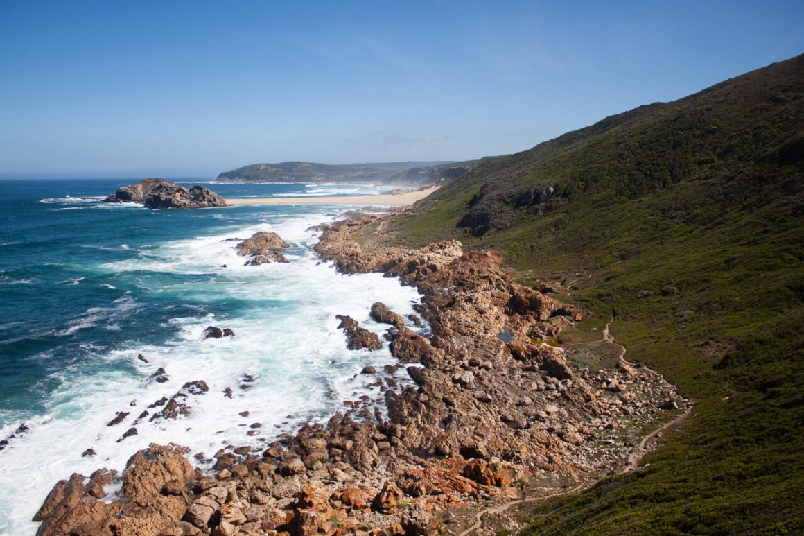 Views from above in Robberg Nature Reserve.
