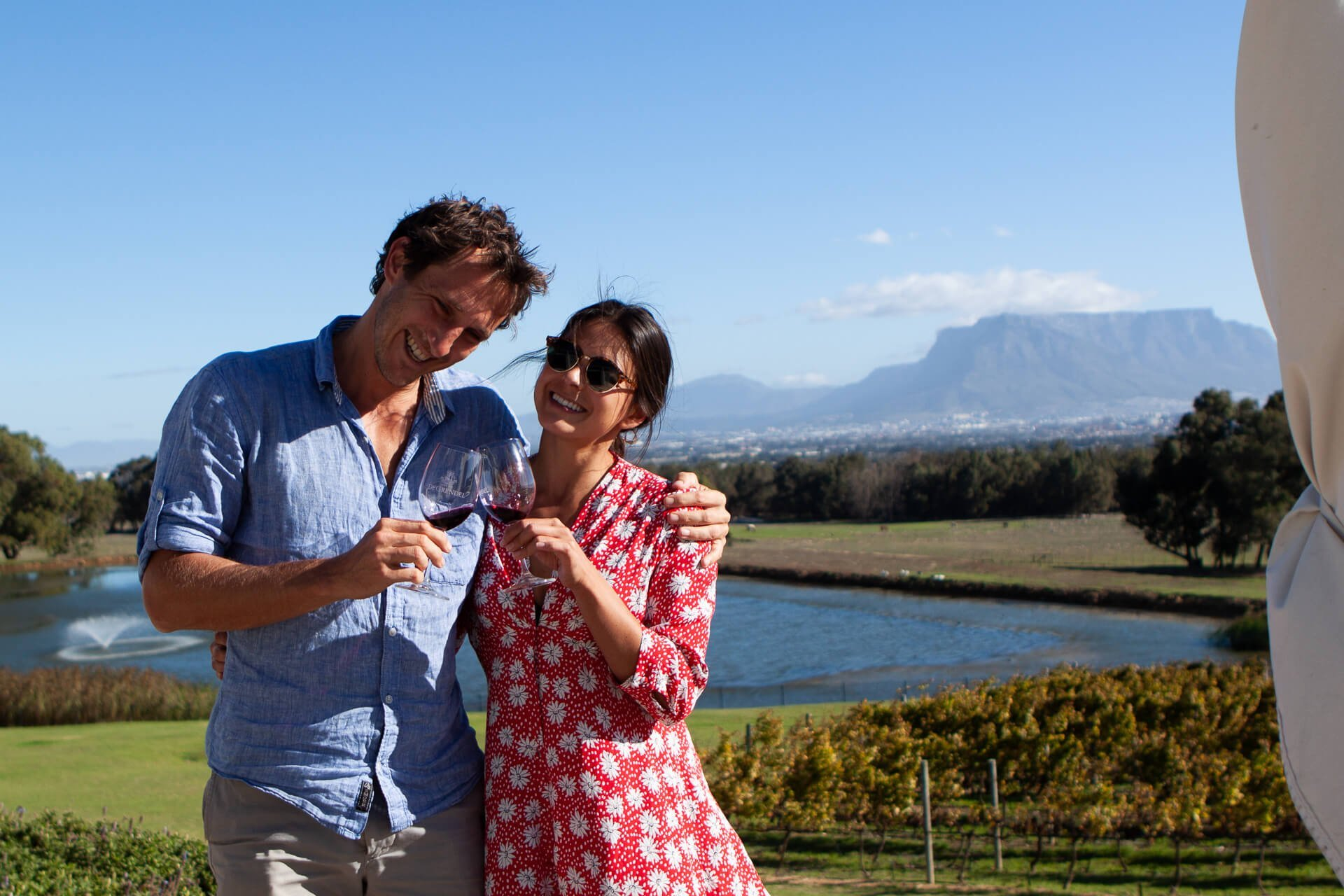 Cape Town Must-Dos cover of Chris and Kim tasting wine in Durbanville