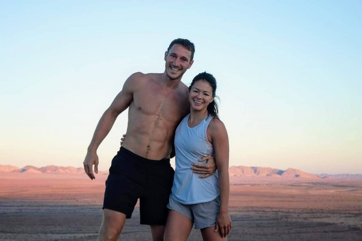 Chris and Kim looking fit in Namibia