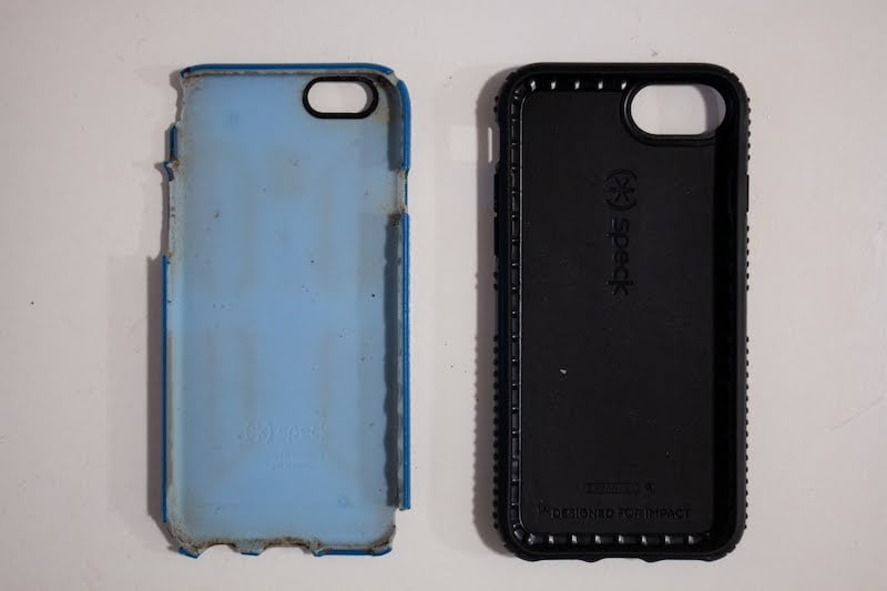 Old and new iPhone cases I recommend for my men's minimalist packing list