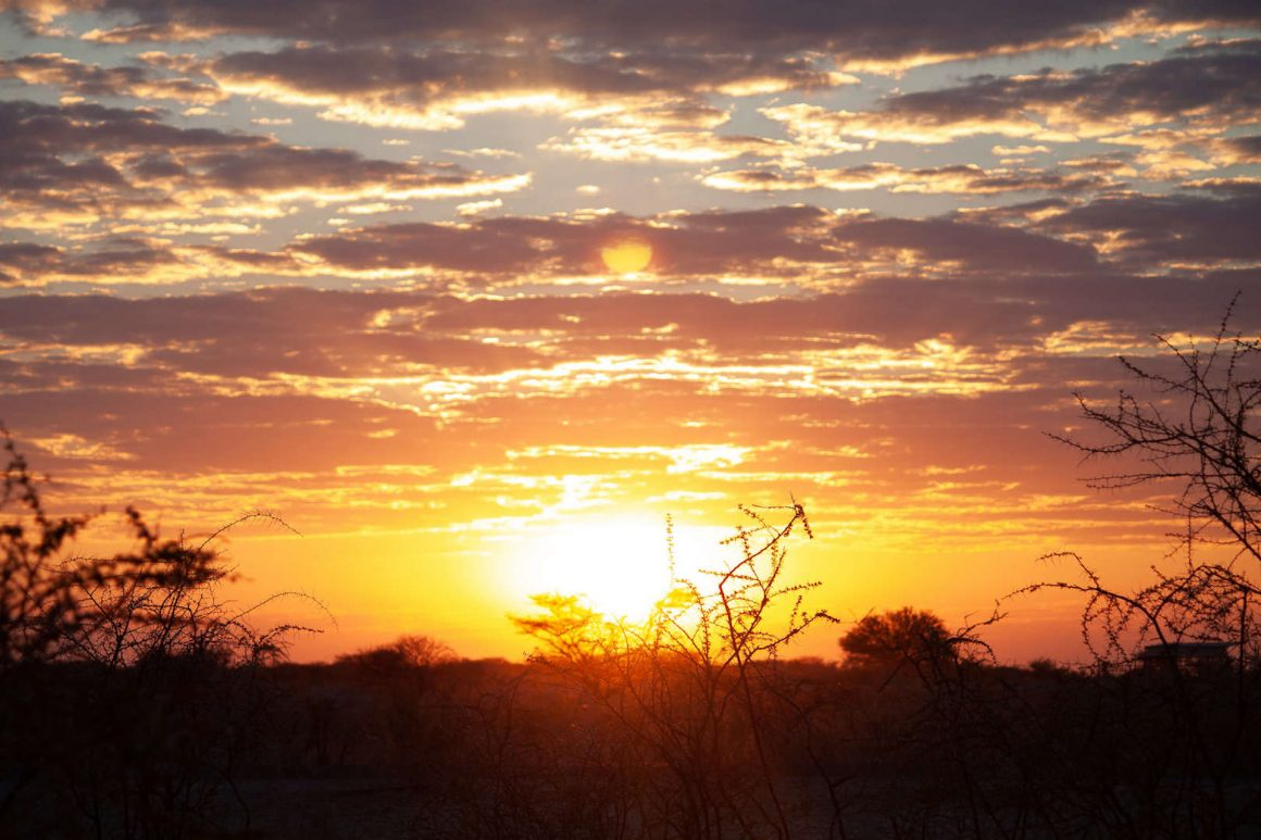 Sunrise in Etosha national park