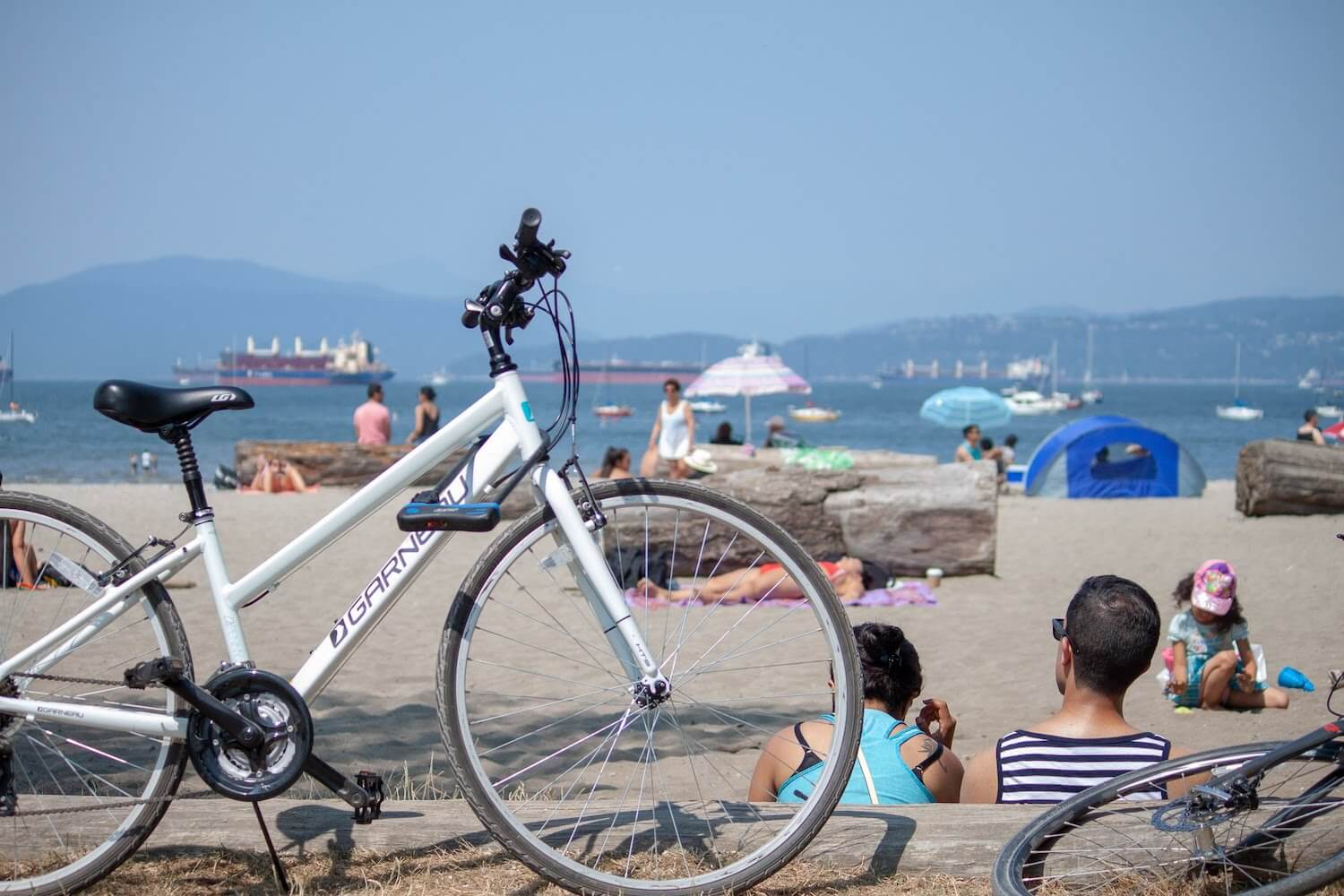 A local's bike at Kitsilano Beach in Vancouver